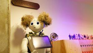 【アップフロンティア】ロボットが迎えるオフィス